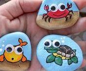AC - Roches peinturées (Rock painting) / Rock painting, roches peinturées, galet