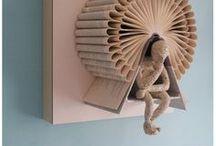 AC - Art du papier (Paper Art) / die cut, papercut, Book Art