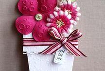 Carte - Pot de fleurs (flowers card) / Flowers card