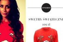 Modne swetry świąteczne / Jak wyglądają celebryci w naszych swetrach?