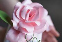 AC - Fleurs (Flowers) / Papier, soie, tissus