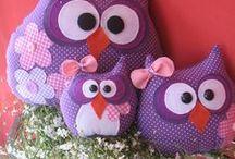 AC - Hibou (Owl) / card Owl, felt Owl, ornament Owl.