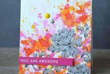 Carte - Acrylique / card acrylic