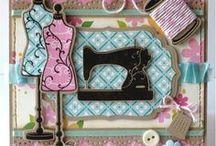 Carte - Machine à coudre, bobbin (Sewing card) / Sewing Card, couture, machine à coudre, tag,  étiquette, bobbin