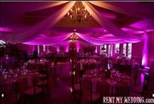 DIY Uplighting by RentMyWedding / Is do-it-yourself #uplighting really possible? YES IT IS! Here are real photos from regular people who have set up their own uplights rented from www.RentMyWedding.com. ($19/uplight + free shipping nationwide). YOU CAN DO IT! #DIY
