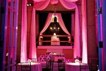 Pipe & Drape Uplighting / #Pipe and #drape #uplighting examples for your #event or #wedding #reception !  #DIY #Inspiration #Ideas #pipeanddrape