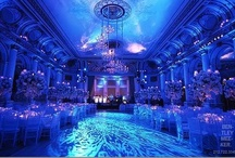 Blue Uplighting / #Blue #uplighting examples for your #event or #wedding #reception ! #DIY #Inspiration #Ideas