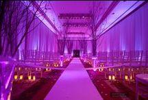 Purple Uplighting / #Purple #uplighting examples for your #event or #wedding #reception ! #DIY #Inspiration #Ideas