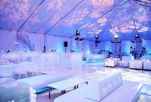 Winter Wedding Uplighting / #Winter #uplighting examples for your #event or #wedding #reception ! #DIY #Inspiration #Ideas