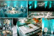 Teal Uplighting / #Teal #uplighting examples for your #event or #wedding #reception ! #DIY #Inspiration #Ideas