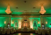 Green Uplighting / #Green #uplighting examples for your #event or #wedding #reception ! #DIY #Inspiration #Ideas