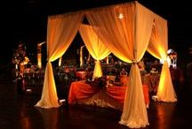 Head Table Uplighting / #Uplighting and #head #table examples for your #event or #reception ! #DIY #Inspiration #Ideas #headtable