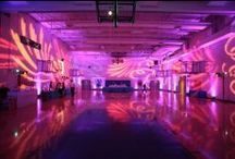 Prom Ideas / #Uplighting and #gobo #monogram #projector examples for your #event or #prom #reception ! #DIY #Inspiration #Ideas #dance