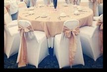 Chair Cover Ideas / Forget the old school banquet chairs or frumpy baggy chair covers... #fitted #spandex #chaircovers will add instant #glam to your #wedding or #event!   #DIY #Inspiration #Ideas