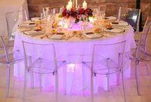 Table Glow Uplighting / Table glow uplighting inspiration!