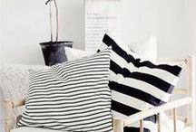 Black and White Interiors / Liking the Bohemian Modern look especially with black and white