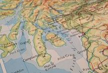 Travel Inspired / Wanderlust / Map / Wedding / Party Decoration Ideas / What's inspired us... Wanderlust, Travel, Globe-Trotting, Vintage, Luxury, Maps, Atlas, Suitcases, Passport, Destination, Aeroplane Adventure, Geography, Recycled, Rustic  //  Celebration & Party Ideas... Weddings, Bon Voyage, Farewell or other travel inspired parties
