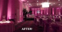 Venue Transformation: Holiday Inn Orlando / Check out our transformation with uplighting and monogram light at the Holiday Inn in Orlando, FL!
