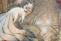 Kitsune / A little fox is a best friend of mine.