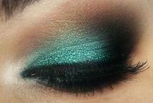 Teal Beauty / Eyes and nails in my colors. Teal, turquoise, mint...