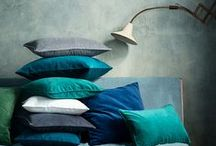 Pillows in Teal / Mint