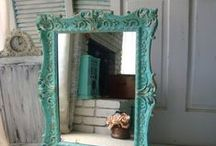 Mirror frame in Teal / Mint
