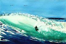Surfing & the beach scene