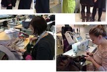 Vaatetusompelijat / Opiskelijoiden suunnittelemia, kaavoittamia ja valmistamia jakkuja asiakkaille.