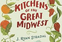 Kitchens of The Great Midwest day with Penguin Library! / In honor of J. Ryan Stradal's amazing debut novel, KITCHENS OF THE GREAT MIDWEST (Pamela Dorman Books, July), we made one of the recipes in the book, Pat Prager's peanut butter bars!  They are delicious!