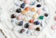 CRYSTALS: Grids / Healing crystal grids. Photos and inspiration.