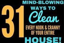 Around The Home Hacks / Tips and tricks for the house like cleaning hacks, how to do things the easier way, how to fix things, DIY projects, etc