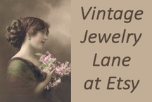Vintage Jewelry Lane at Etsy / Vintage jewelry is well made, fashionable and most of all competitively priced.  Click on any of the pin to visit my Etsy store