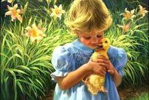 Arte - Crianças / Pinturas de crianças