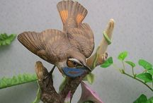 Pottery & porcelain birds