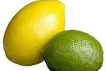 Citron og limon  opskrift / Citron  rund, lidt aflang citrusfrugt fra citrontræet, med gul skal og gult frugtkød med syrlig smag  Limon  smag eller duft af citrus som tilsættes madvarer eller andre produkter