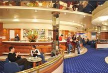 """On board our ships / Discover what GNV has in store for your leisure time and relaxation on board its ferries:  accommodation for all requirements à la carte restaurant, coffee shop and snack bar leisure time activities products and services designed for children shopping opportunities on-board office """"Pets Welcome on Board"""" service"""" camping on board"""