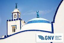 Destination - Tunis (Tunisia) / Grandi Navi Veloci operates 3 routes to Tunis: Genoa - Tunis  Civitavecchia - Tunis (with stopover in Palermo)  Palermo - Tunis