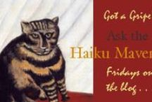 "THF Haiku Maven / The Haiku Maven posts each Friday to The Haiku Foundation blog. Haiku Maven offers advice about awkward situations involving haiku poets. The word maven comes from the Yiddish meyvn, meaning ""one who understands""."