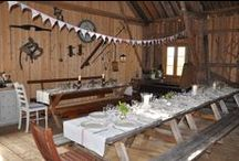 Old Barns, gamle låver / Summerparties in the Barn, Christmas in the Barn, Interior in the Barn