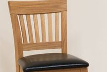 Oak Kitchen Stools / A selection of solid oak kitchen stools.  Ideal for use with oak breakfast bar tables.