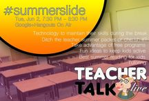 Summer / how do we prevent the #summerslide?  Post here with ideas on how to keep kids engaged to minimize knowledge loss over the summer?  Our show on this topic airs this Tuesday, June 16th.  If you'd like to share your ideas live, contact us!  #teachertalklive