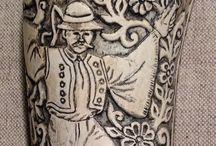 Népművészet, szarufaragások ...         Folk art, handmade carvings / Lukács Lajos Népi iparművész, a Népművészet Mestere, ötszörös Kapoli díjas, Mesterremek díjas  Faragásai