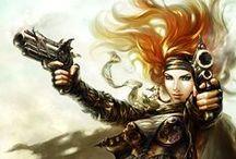 Cg female fantasy/SF/steampunk