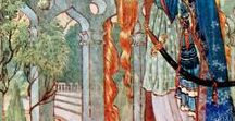 Edmund Dulac / Warwick Goble / Charles Folkard / Arthur Rackham and others / The old, gorgeous illustrations of fairy tales