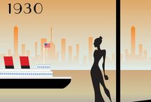 Travel In Style / Retro posters that just make you want to travel by train, plane, cruise ship or Zeppelin to somewhere glamorous! / by Imogen Locke