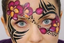 {Teen face painting}