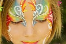 {Girls face painting}