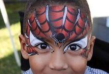 {Boys face painting}