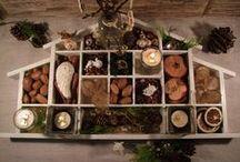 Setzkasten Deko / Einen Setzkasten dekorieren, mal zu Ostern, oder maritim im Sommer, im Herbst mit Herbstfrüchten und zu Weihnachten.