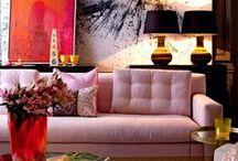 Salas e Livings / Sofás, puffs, quadros e almofadas